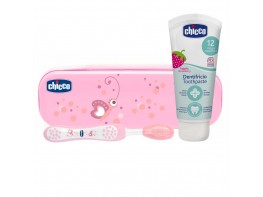 SET DENTAL CHICCO ROSA CEP+PASTA 6-36M